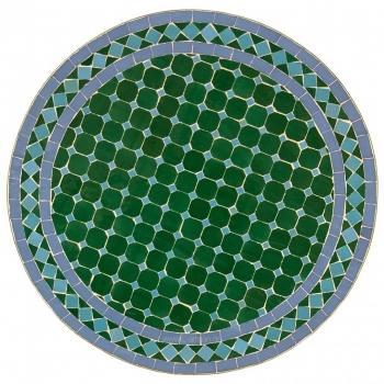 Bistrotisch aus Mosaik MDADI Grün / blau D60cm