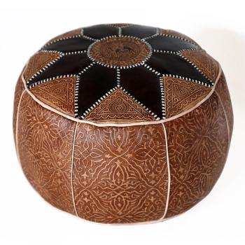 Marokkanisches Orientalisches Ledersitzkissen