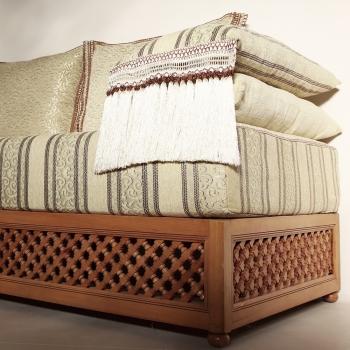 Orientalische Marokkanische Couch aus Massivholz Farha