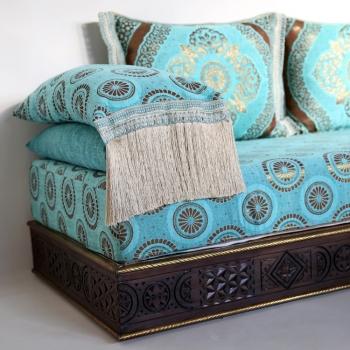Orientalische Marokkanische Couch aus Massivholz Amana