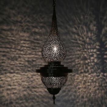Marokkanische Orientalische Hängeleuchte DAMAA aus Messing
