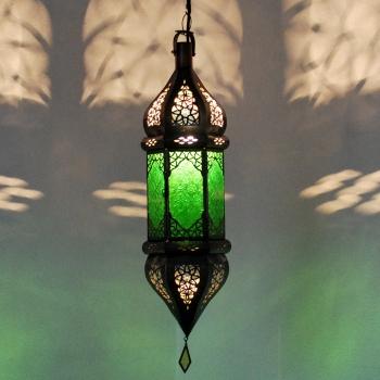 Orientalische Deckenlampe SULTANA Grün