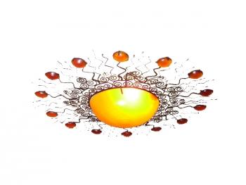 Sonnen-Metall-Leuchte