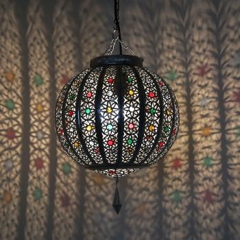 Orientalische Deckenleuchte LATIFA Silber