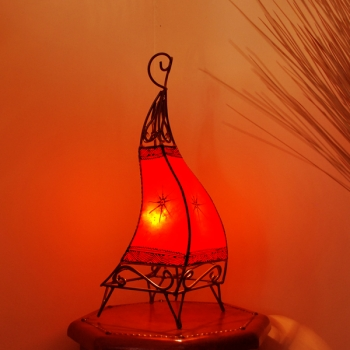 Henna-Stehlampe CANAR60 ROT