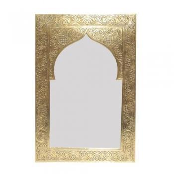 Marokkanischer Orientalischer Messing goldener Spiegel Handarbeit KASIM H37