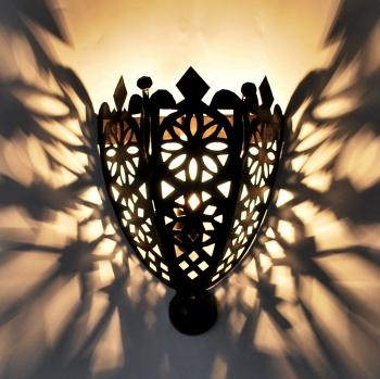 Orientalische Marokkanische  Wandlampe Wandschirm BOHA MSCHANKAB H24cm