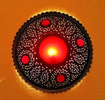 Orientalische Wandlampe  Hängeleuchte TASSA RESINE
