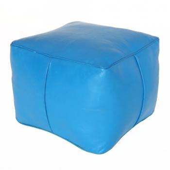 arabische Leder-Sitzkissen CARRE Hell Blau