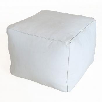 Marokkanische orientalischer arabischer Sitzkissen Hocker CARRE Weiß 55x55cm