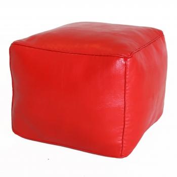 Marokkanischer Sitzhocker CARRE rot