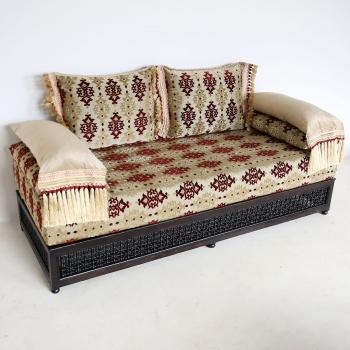 Orientalische Marokkanische Arabische Couch aus Massivholz SABAH
