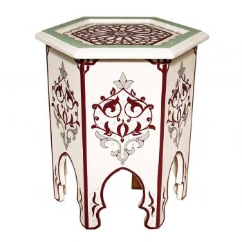 Marokkanischer Handbemalter Holztisch HALIBI