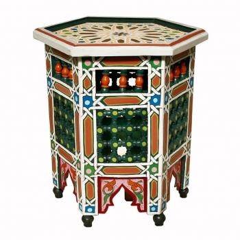 Marokkanischer Handbemalter beistelltisch Sahar
