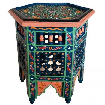 Orientalischer Arabischer Tisch ZERGI H43xD38cm