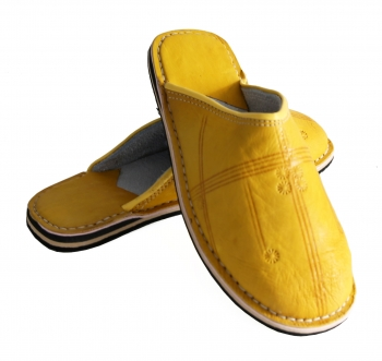 Marokkanische Lederschuhe Gelb