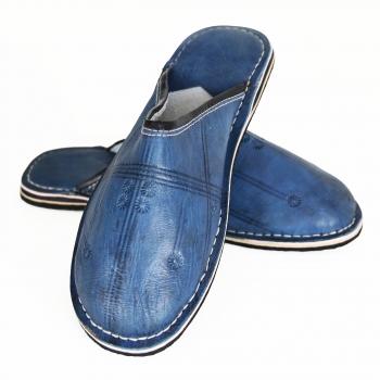 Marokkanische Lederschuhe Blau