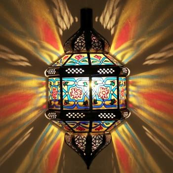 Orientalische Wandlampe aus Glas TITA MELOUNA