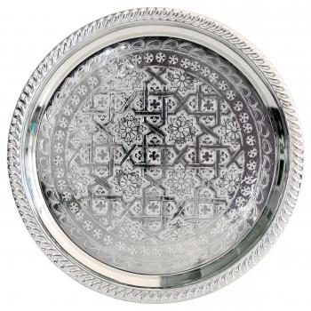 Marokkanisches Silbertablett D34cm