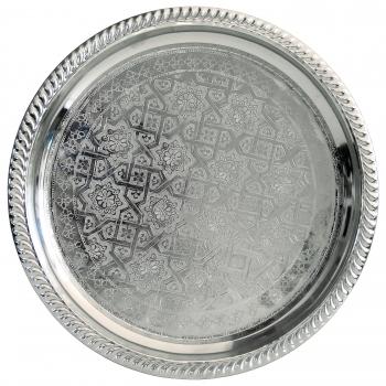 Orientalisches Silbertablett D28cm