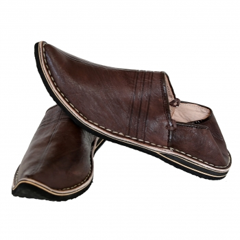 Marokkanischer Schuhe Dunkel braun