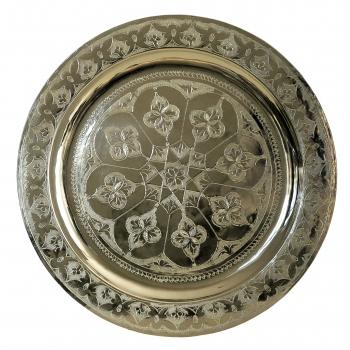 Marokkanisches rundes Teetablett aus Messing D40cm