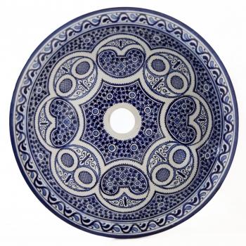 Orientalisches Waschbecken handbemalt aus Keramik FES-X-I D42cm