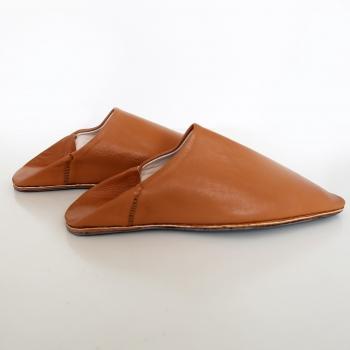 Marokkanische Leder Schuhe Cognac Gr. 40-44