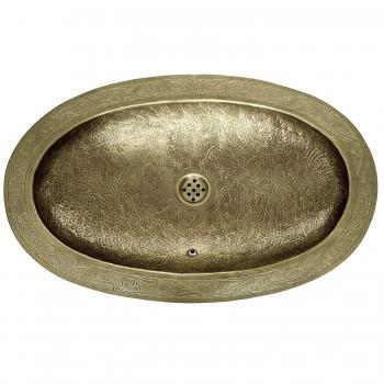 Ovales Messing Waschschüssel MSO-I