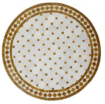 Mosaiktisch aus Marokko D60cm OKRABELG