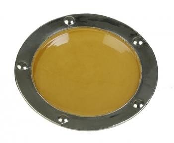 MAROKKANISCHER Keramik Teller MAJID 42 Gelb