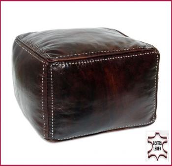 Orientalisches Sitzkissen Carre mit Naht 45x45 cm Dunkelbraun