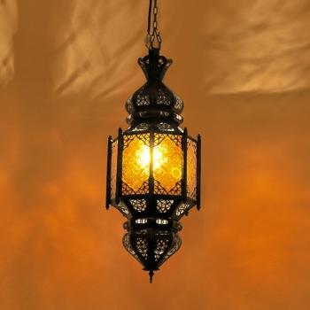 Arabische Hängeleuchte Lafna-1 Amber