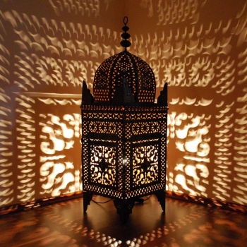 Marokkanische Eisen-Laterne JAMA H120cm