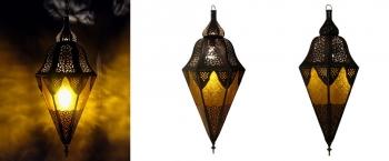 Marokkanische Hängelaterne safir H70cm Amber
