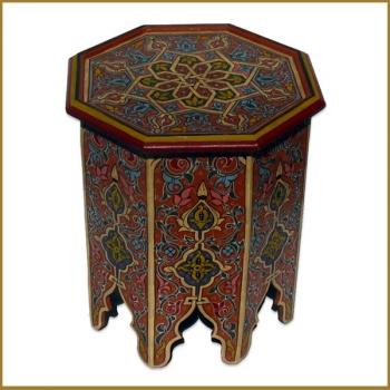 Handbemalter Marokkanischer - Tisch - aus Holz