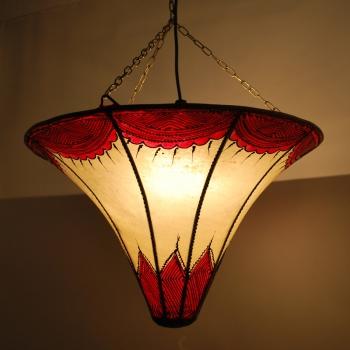 Deckenlampe aus Leder