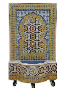 Springbrunnen aus Mosaiksteine Ankabut 130x70 cm Blau/Gelb
