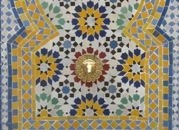Springbrunnen aus Mosaiksteine