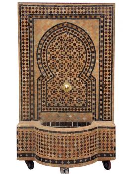 Mosaikbrunnen aus Marokko Foudouk 130x70 cm Braun/Beige