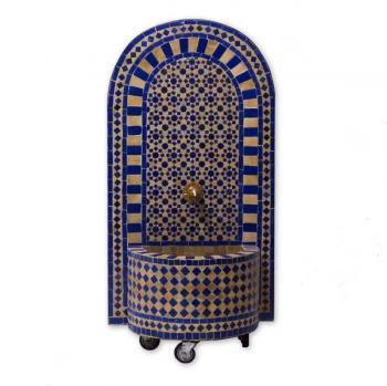 Mosaikbrunnen Foudouk 120 x 61 cm Blau