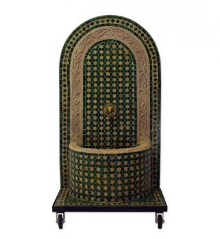 Mosaikbrunnen Foudouk 120x61 cm Grün/Beige