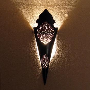Marokko wandlleuchte aus Metall Malik H 68cm