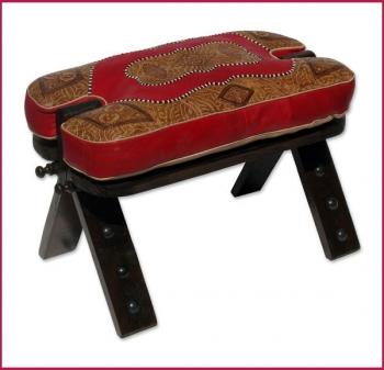 Orientalischer Sitzhocker RABATI Rot 1
