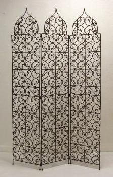 Orientalischer Paravent aus Eisen -koba- H178xB122cm