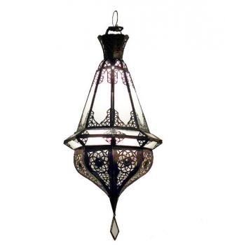 Orientalische Hängelaterne Samaka Milchglas