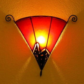 Wandlampe aus Leder Bogaboga H 50cm