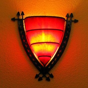 Orient Wandlampe Escargo H40cm, rot