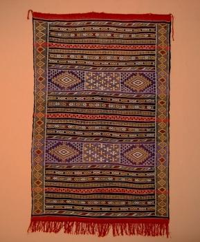 Kelim aus Marokko ,,Khemissat handgeknüpft Maße: 1,88 x 1,15 m
