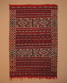 Marokkanischer Kilim ,,Atlas handgeknüpft Maße: 1,90 x 1,25 m